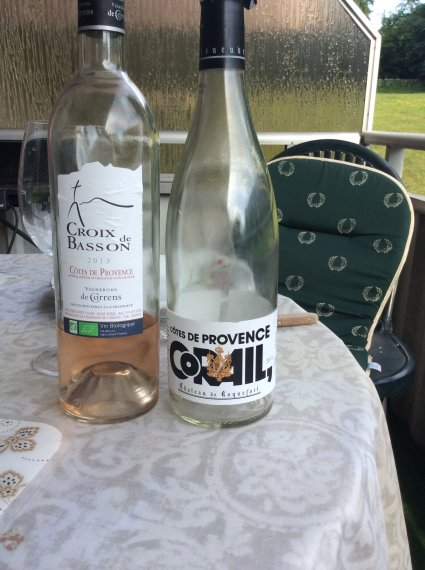 2 different style of rosé