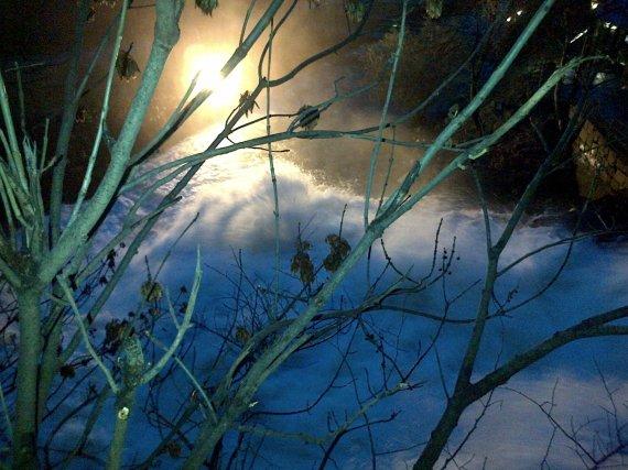 Rivière dans Oslo la nuit
